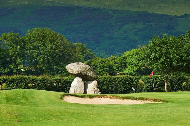 small-Proleek Dolmen on golf course, Co Louth